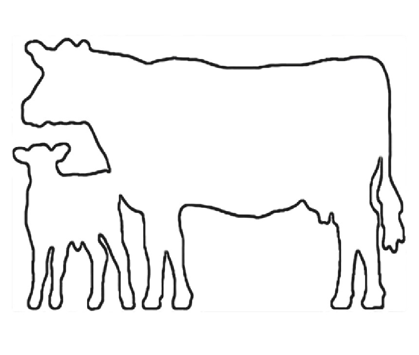 Cow And Calf Clipart Cow Patterns Free Craft
