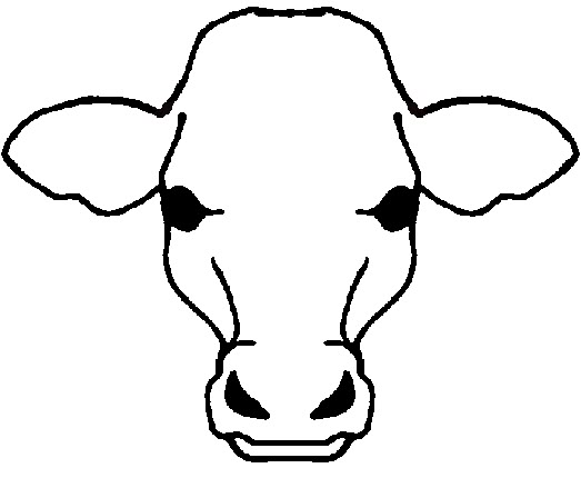 Cow Face Outline Clipart - Clipart Suggest