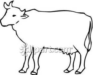 Cow Outline   Royalty Free Clipart Picture