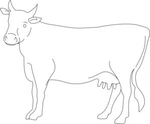 Cow Side View Outline Clip Art At Clker Com   Vector Clip Art Online