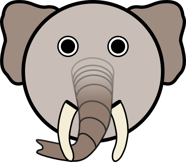 Elephant With Rounded Face Clip Art At Clker Com   Vector Clip Art