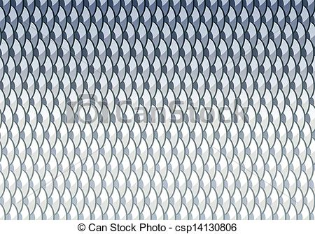 Fish Scales Background Of Carpian Fishes With Clipping Mask