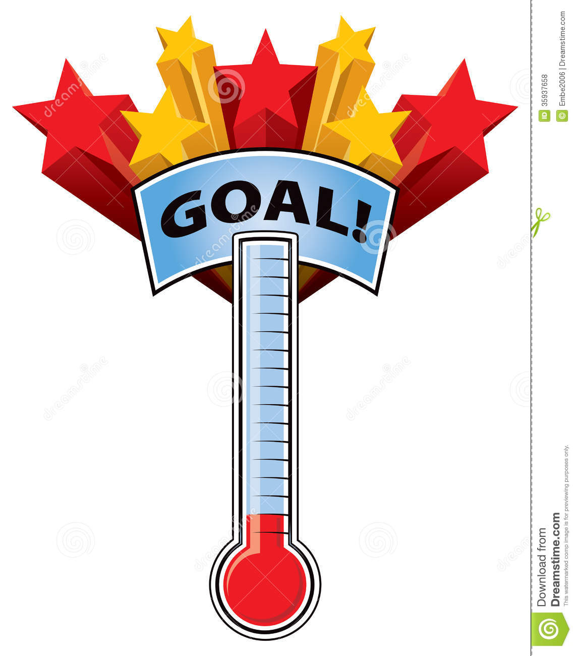 Goal Setting Thermometer Clipart - Clipart Kid