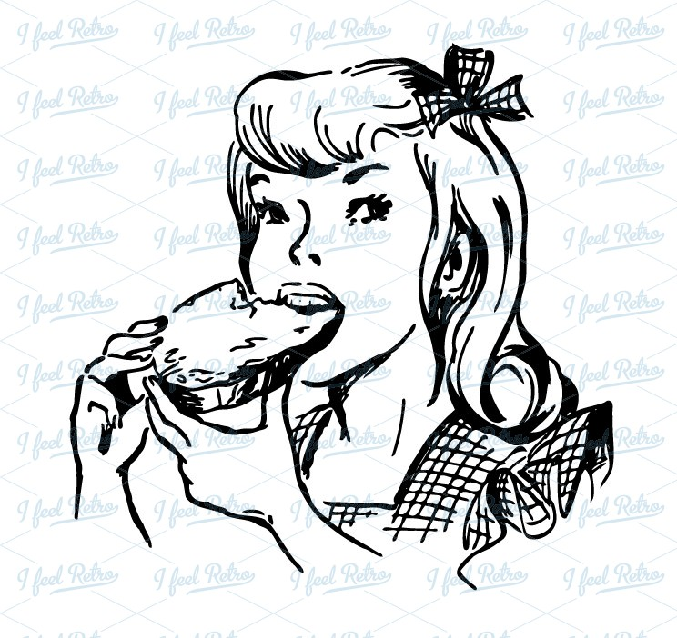 Girl Eating A Jam Bread