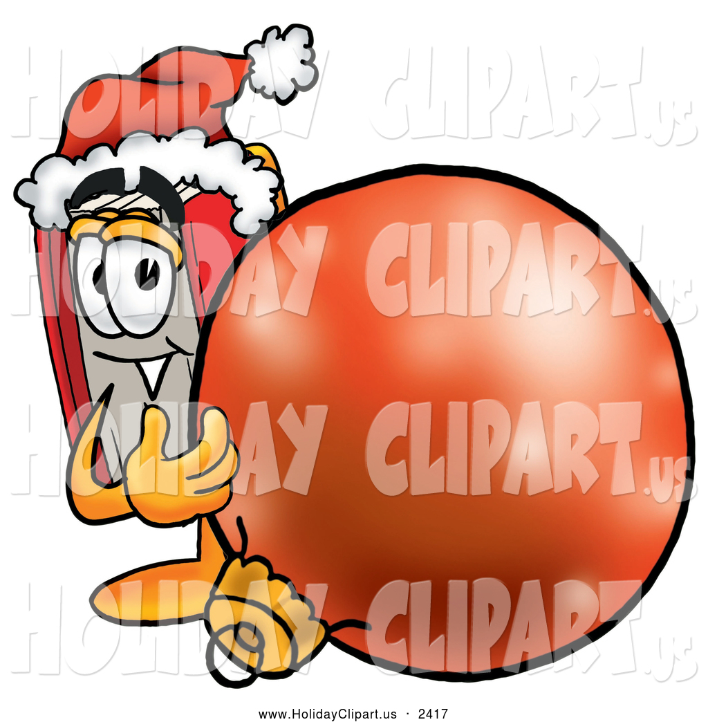 Holiday Clip Art Of A Friendly Red Book Mascot Cartoon Character