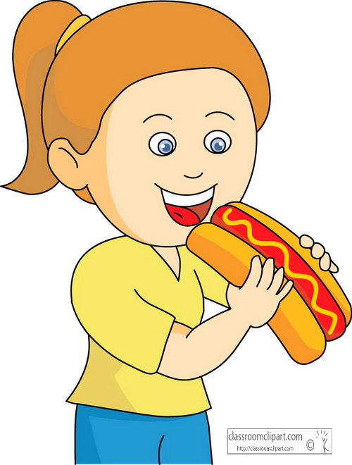 Girl Eating Clipart - Clipart Suggest