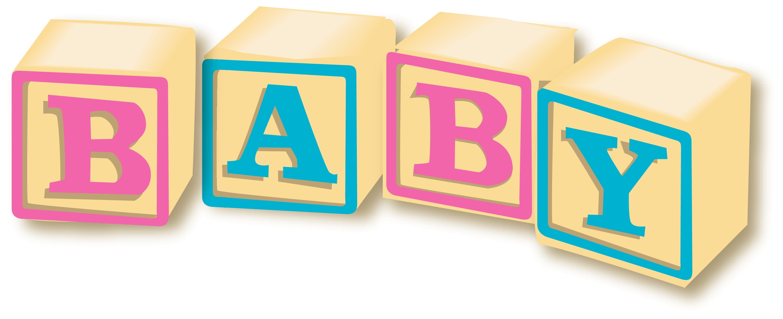 Girl Baby Blocks Clipart - Clipart Suggest