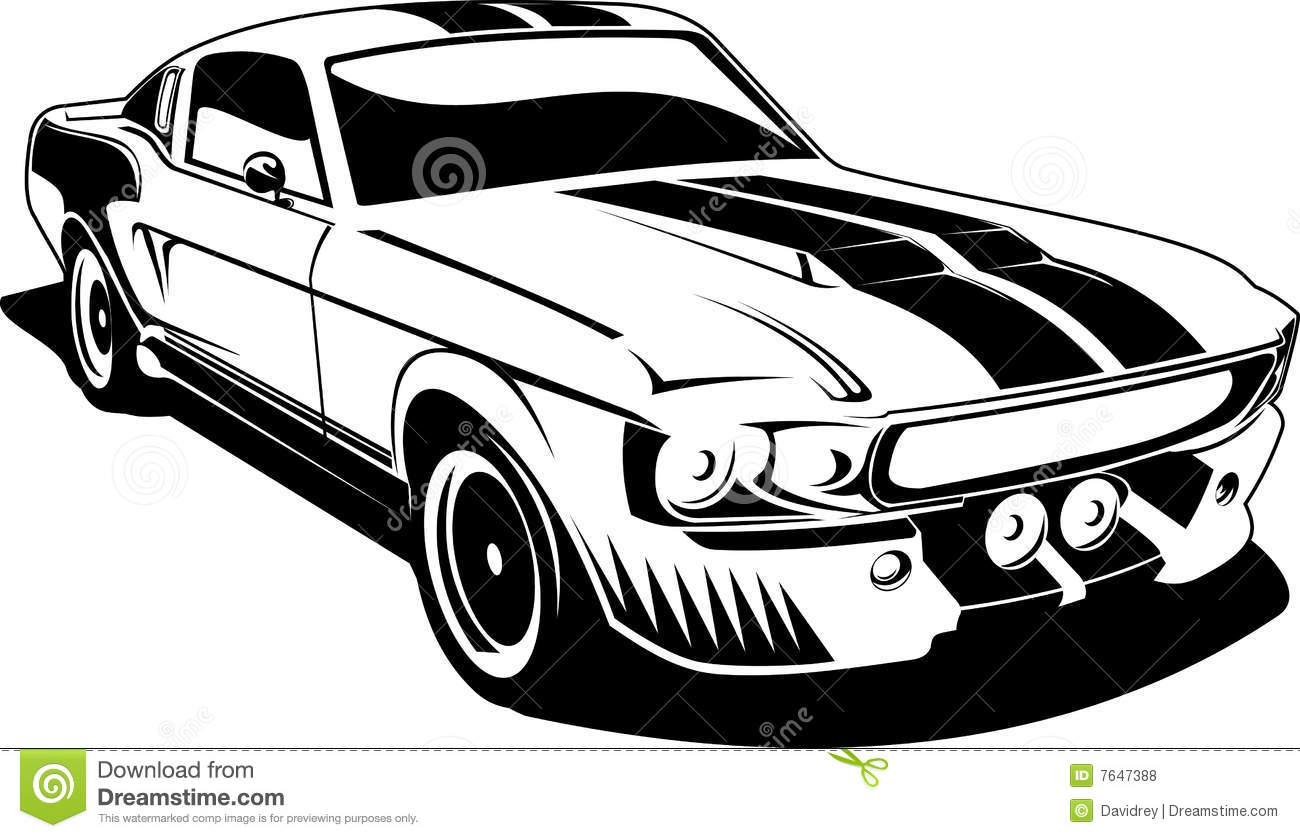 Mustang Car Clipart Mustang Car Clipart Black And White Black White