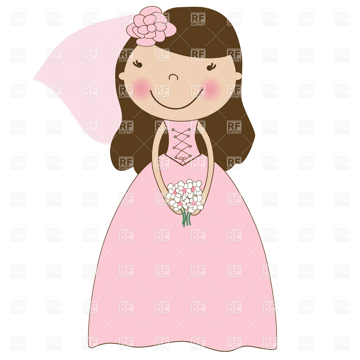 Pretty Lady Clipart - Clipart Kid