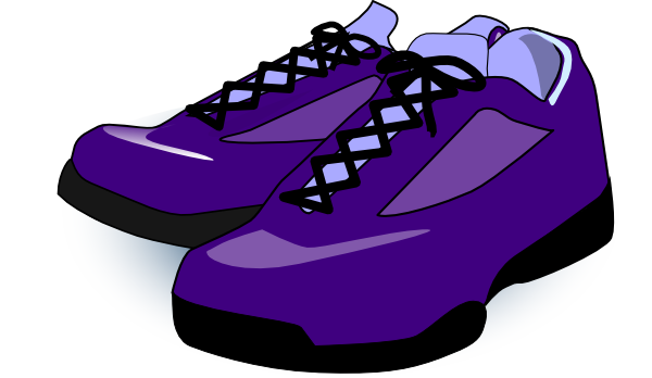 Purple Shoes Clip Art At Clker Com   Vector Clip Art Online Royalty