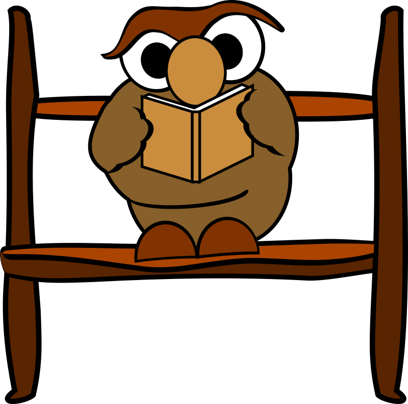 Reading Owl By Rdevries   A Clipart Of A Reading Owl On A Stick
