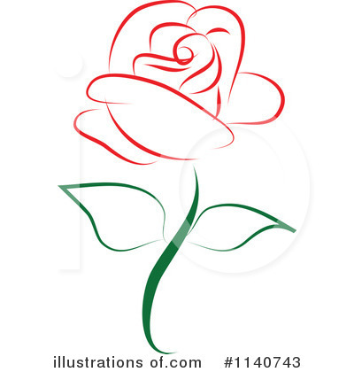 Rose Clipart  1140743   Illustration By Vitmary Rodriguez