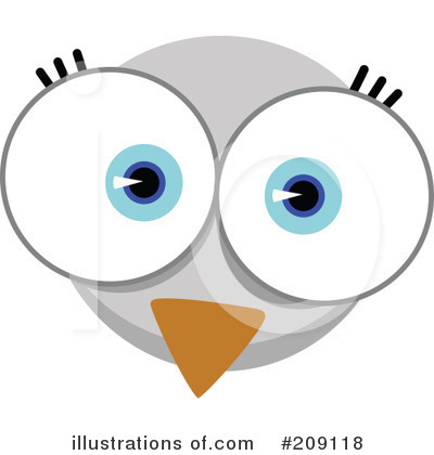 Royalty Free  Rf  Animal Face Clipart Illustration By Qiun   Stock