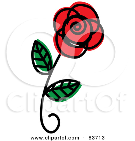 Royalty Free  Rf  Single Red Rose Clipart Illustrations Vector