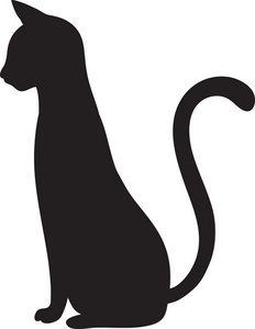 Sitting Cat Silhouette   Clipart Best