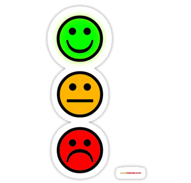Smiley Traffic Lights   Green For Go Stickers By Muz2142   Redbubble