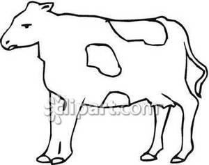 Spotted Cow Outline   Royalty Free Clipart Picture