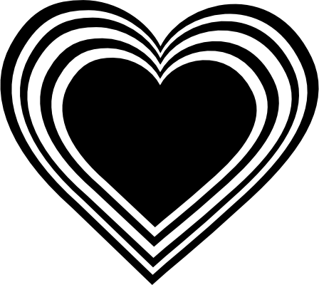 White Heart Black Background Black N White Heart Clipart Png