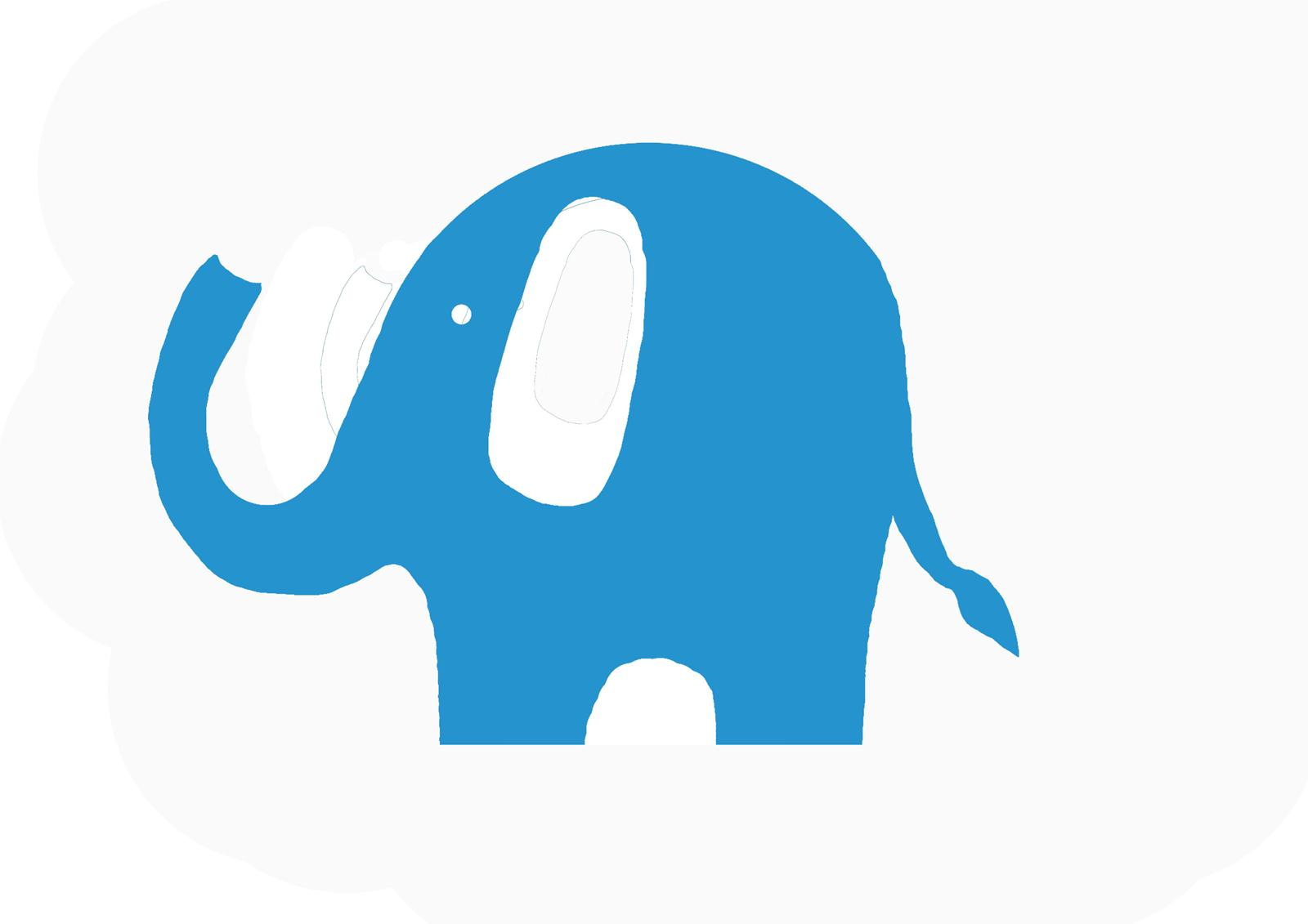 Modern Baby Elephant Clip Art
