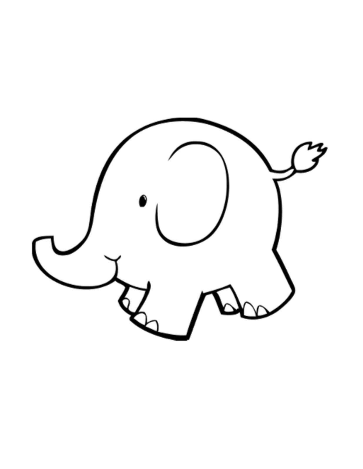 elephant face clipart outline - photo #19