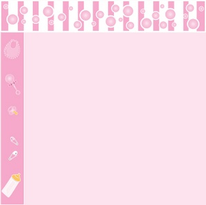 Baby Shower Pink Background Free Clipart Borders For Baby