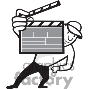 Black And White Director Clipboard Front