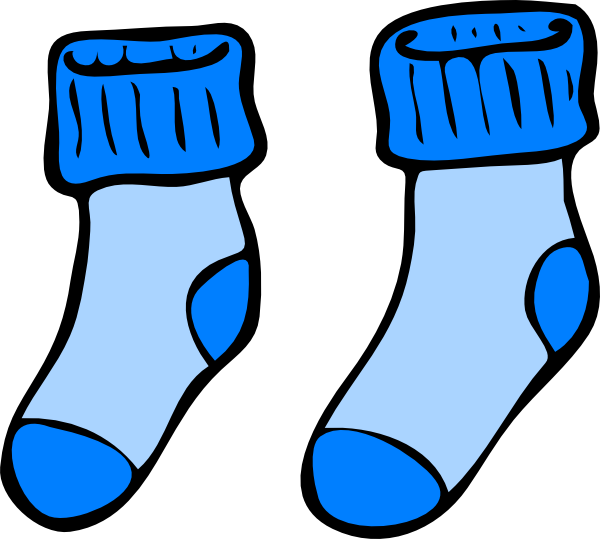 Blue Socks Clip Art At Clker Com   Vector Clip Art Online Royalty