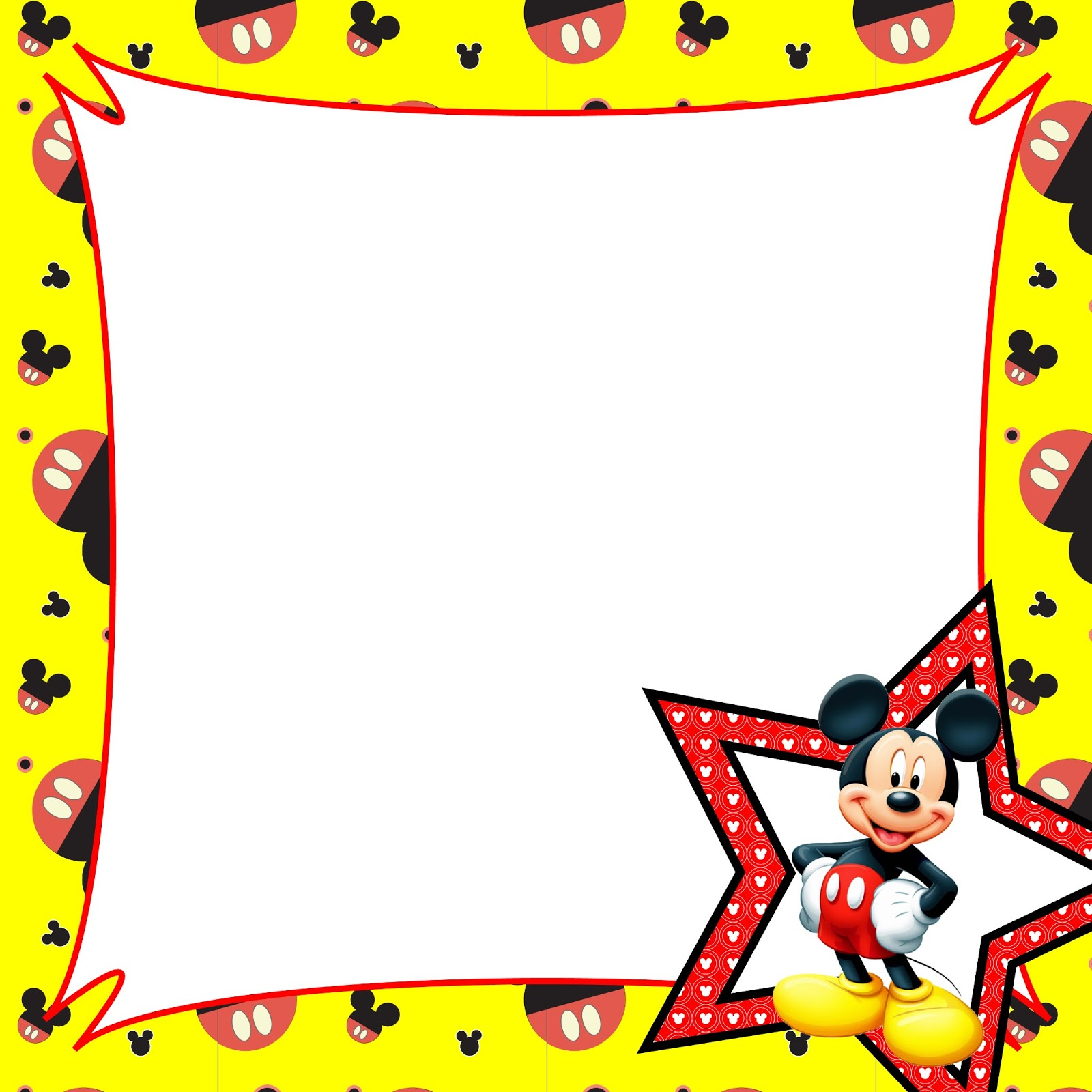 Mickey Mouse Birthday Border Clipart - Clipart Kid