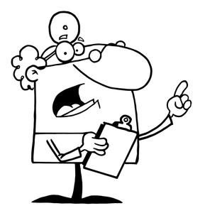 Doctor Clip Art Black And White Doctor With A Clipboard Talking 0521