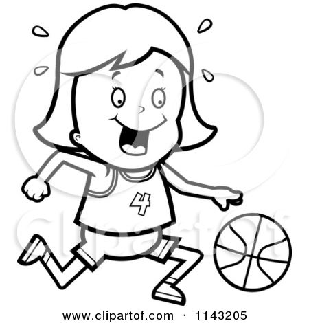 Girls Basketball Clipart Black And White   Clipart Panda   Free