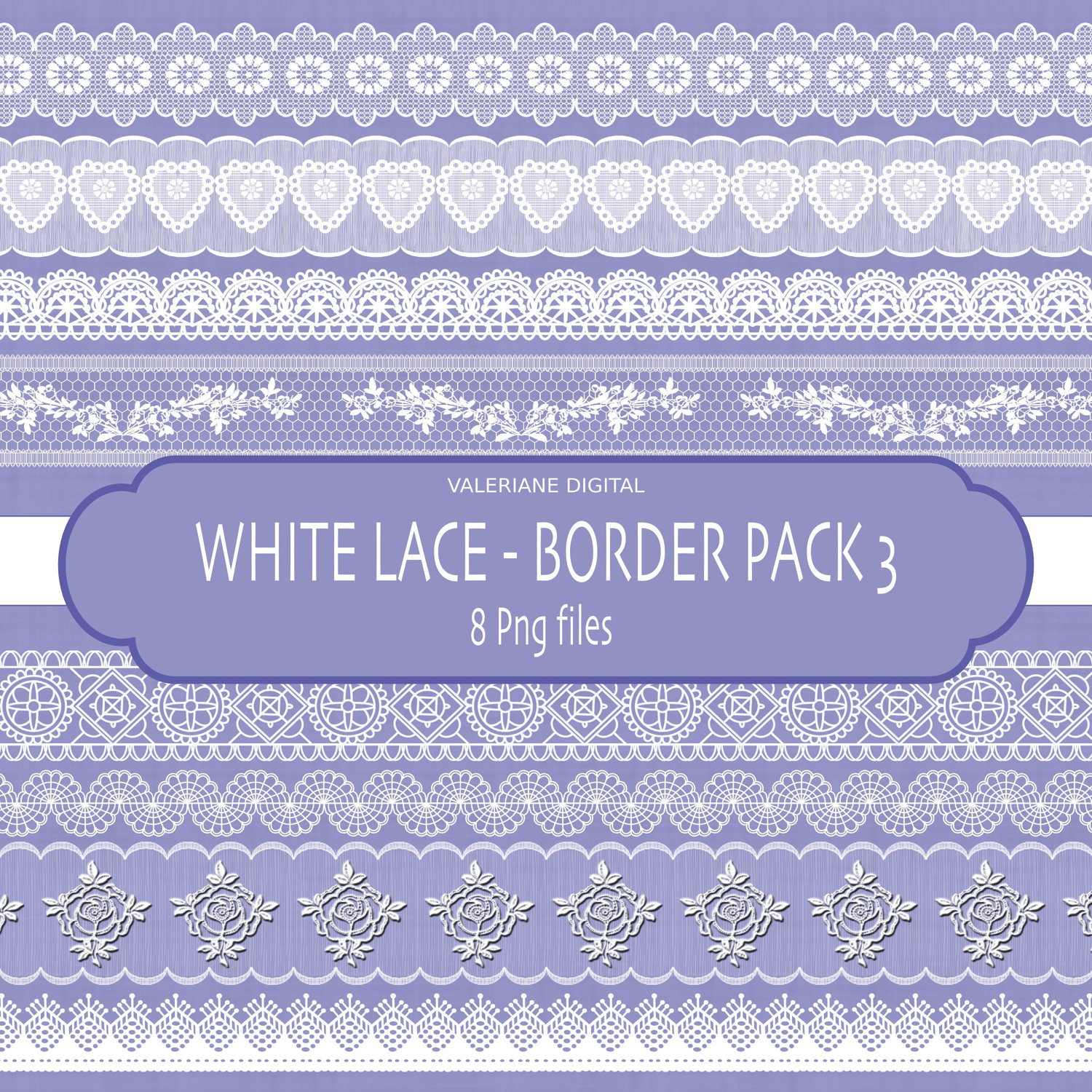 Lace Border Clip Art Digital Clipart Digital By Valerianedigital