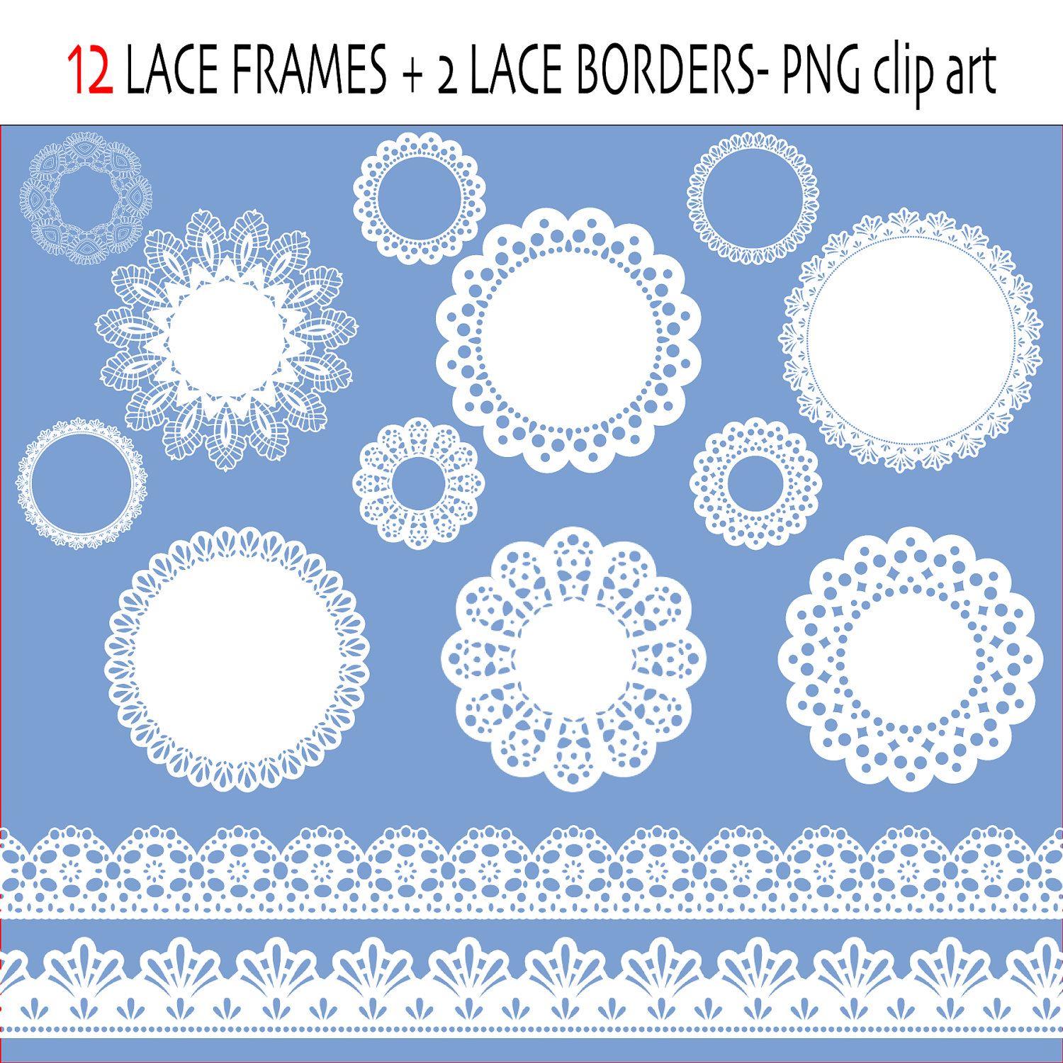 Lace Clip Art Labels Or Frames Lace Ribbon By Valerianedigital
