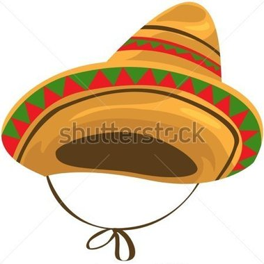 Of Isolated A Sombrero Straw Hat On White Stock Vector   Clipart Me