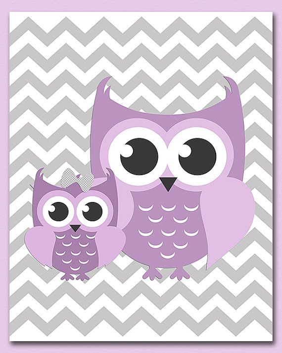 Pink And Purple Owl Baby Shower Decorations
