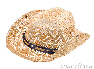 Stetson Straw Hat Of Cowboy Isolated On White Stock Images   Image