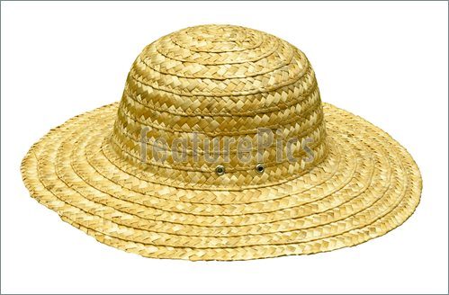 Straw Hat Clipart Picture Of Straw Hat Isolated