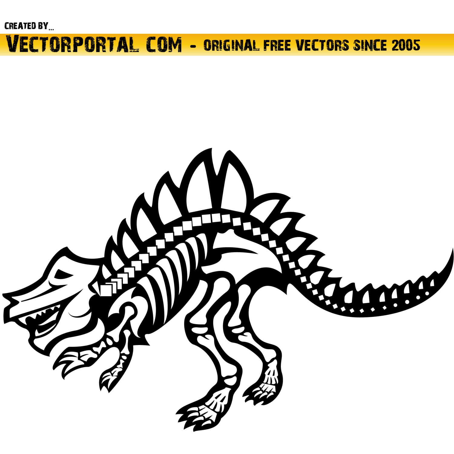 Vector For Free Use  Dinosaur Clip Art Vector