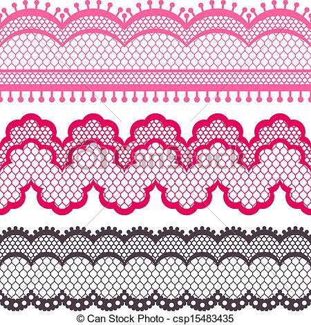 Vector   Old Lace Ribbons Abstract Ornament  Vector Texture    Stock