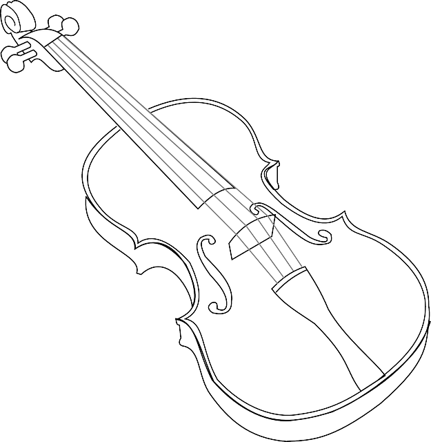 Violin Clipart Black And White Music Outline Pictures
