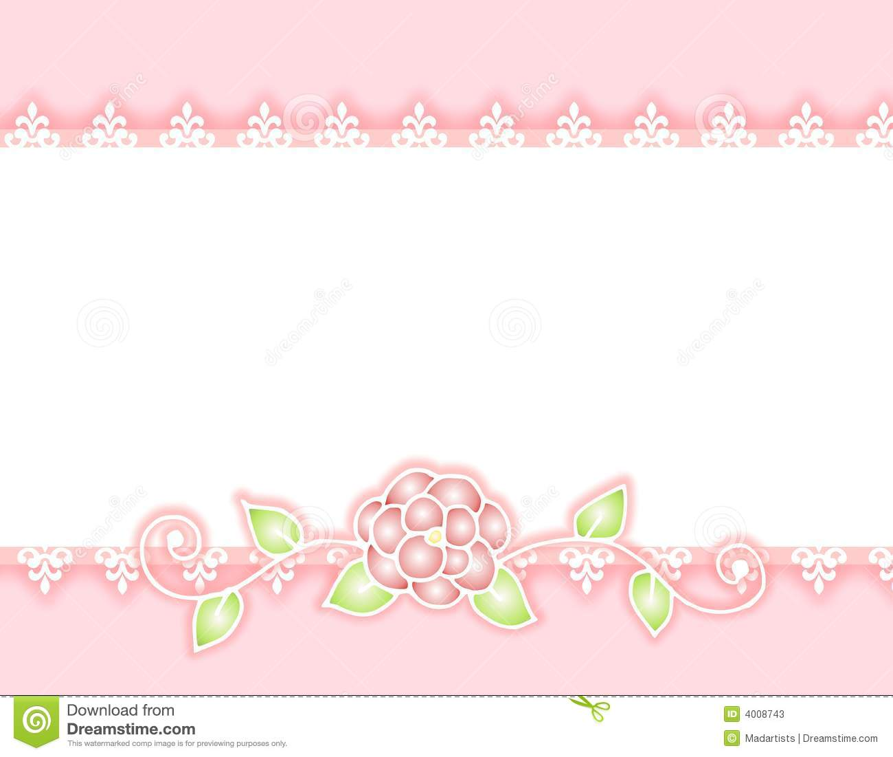 White Lace Border Graphicwhite Lace Pink Ribbon And Rose Border Stock
