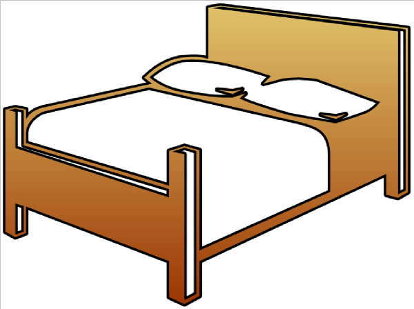 Clipart Bed - Synkee