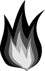 Clip Art Black And White Fire Clipart - Clipart Suggest