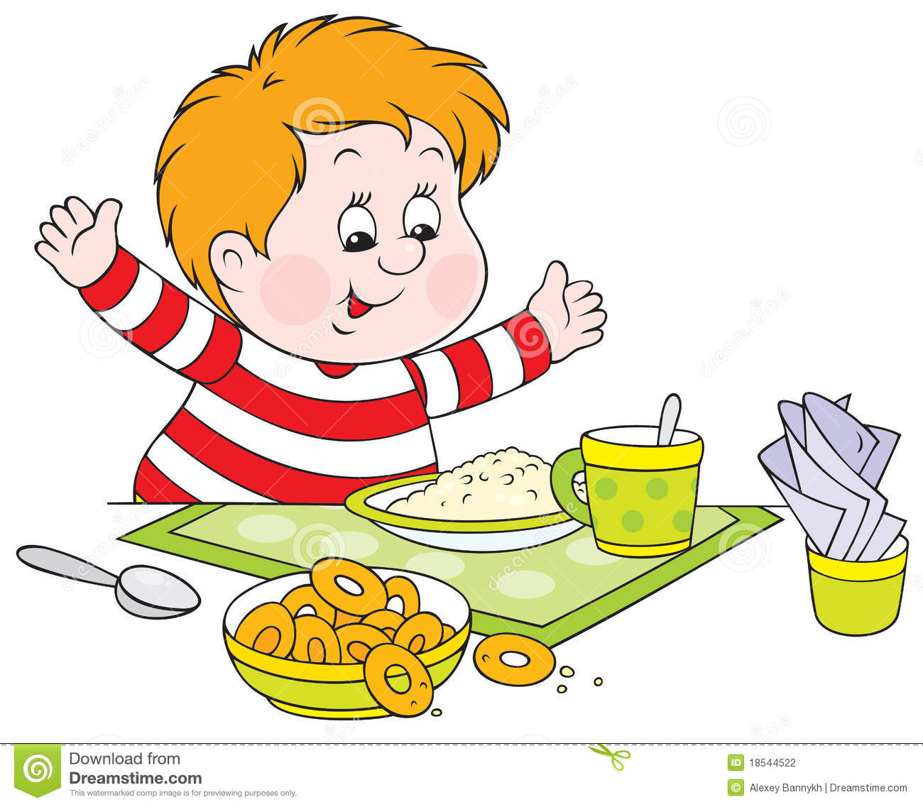 Breakfast Clipart Eating breakfast clipart - clipart kid