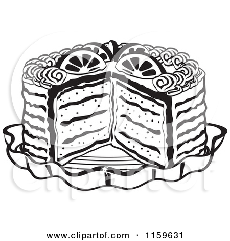 Dessert Black And White Clipart - Clipart Kid