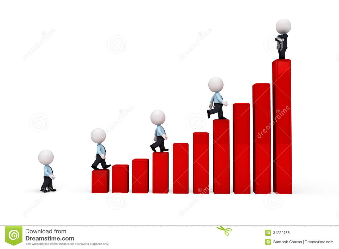 Climbing Stairs Clip Art