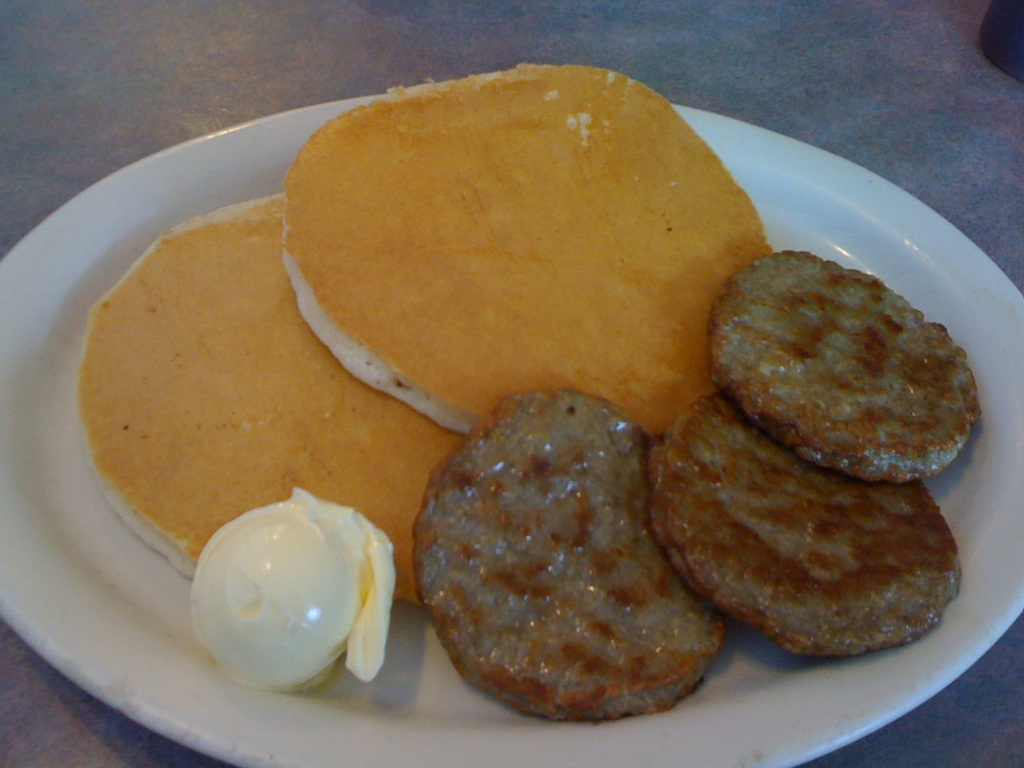 Opting For A Short Stack Of Pancakes With A Side Of Sausage ...