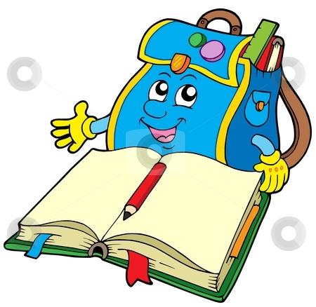 Read Book Bag Clipart - Clipart Kid
