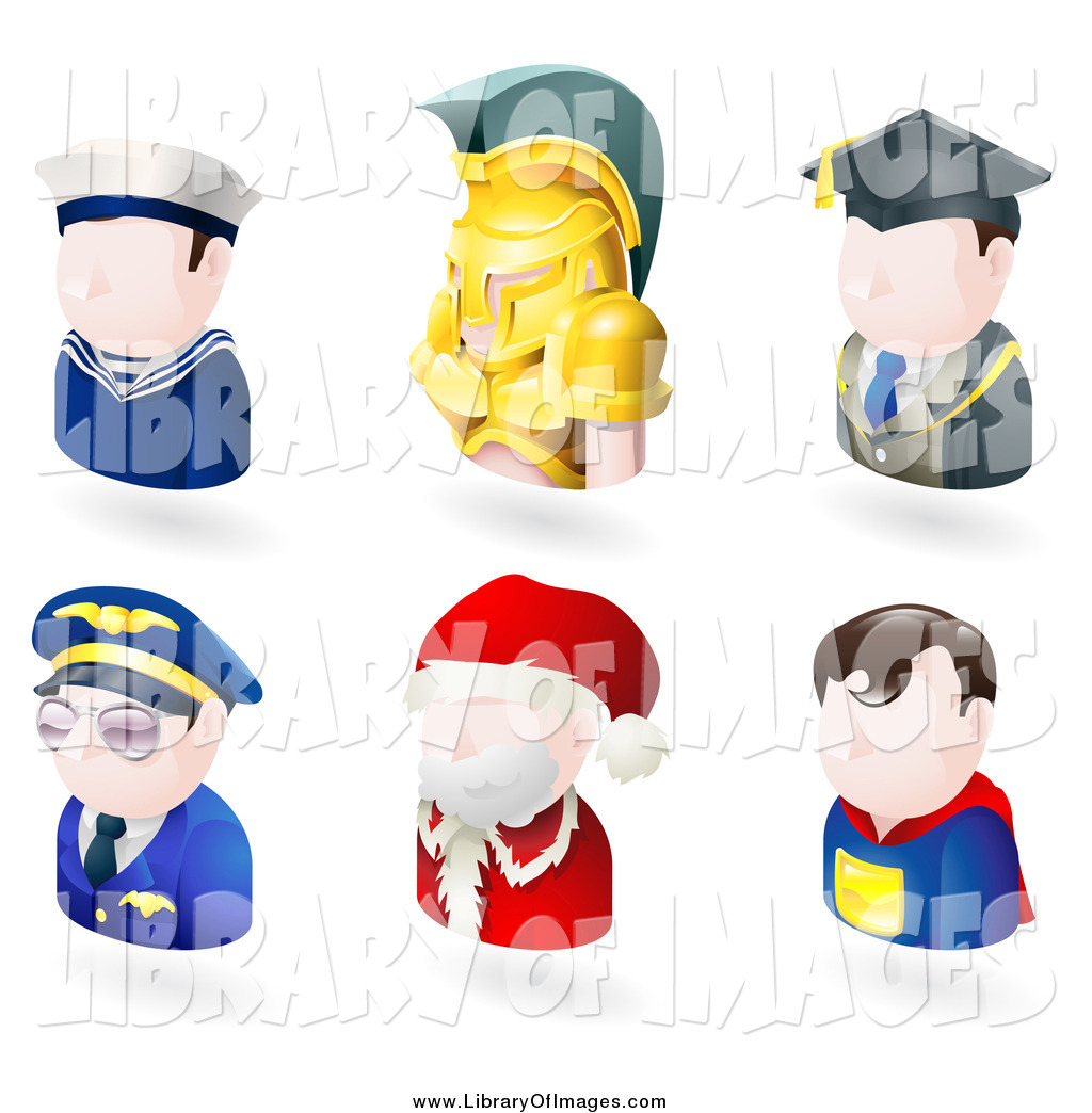 Spartan Teacher Pilot Santa And A Superhero By Atstockillustration