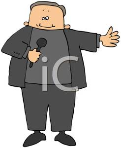 Stand Up Comedian   Royalty Free Clipart Picture
