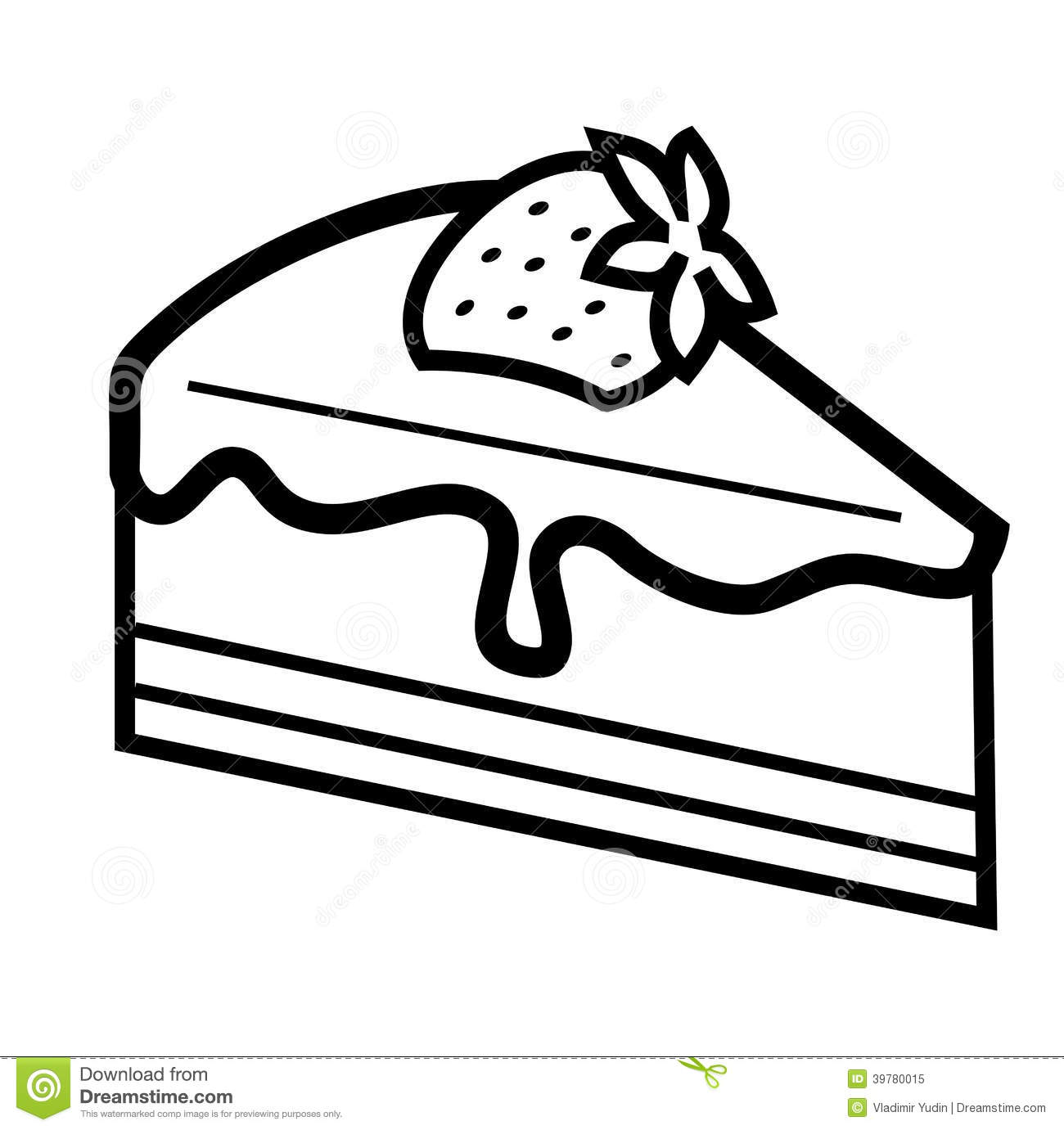Cake Clipart Images Black And White : Cake Black And White Clipart - Clipart Suggest